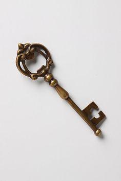 Key bottle opener. I'm kind of obsessed with ornate vintage keys.