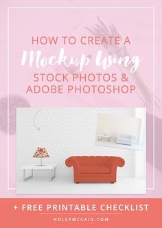 How to Create a Mockup with your Surface Pattern Designs Using Adobe Photoshop and Stock Photos. Click to review the step by step tutorial.