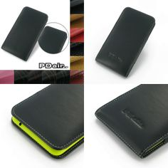 PDair Leather Case for Nokia Lumia 1320 - Vertical Pouch Type (Black)