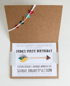 First birthday invitation