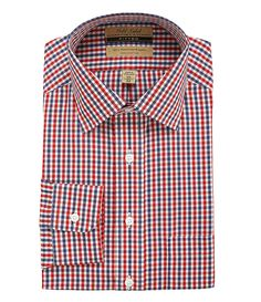 Roundtree & Yorke Gold Label Fitted Gingham Dress Shirt | Dillards.com