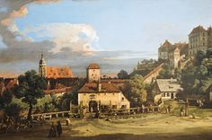 Bernardo Bellotto (1721-1780): Pirna - The Obertor from the South, 1756,  New York Metropolitan Art Museum