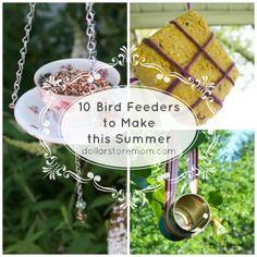 10 DIY Bird Feeders for Summer Birdwatching