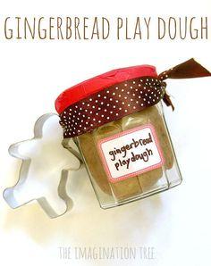 No-cook gingerbread play-dough recipe + activities Preschool Christmas, Christmas Crafts For Kids, Christmas Activities, All Things Christmas, Christmas Fun, Holiday Crafts, Holiday Fun, Toddler Christmas, Christmas Books