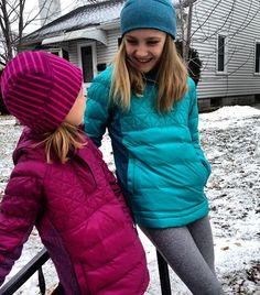 Playing in the snow with your BFF! #ivivvaspirit | Up To Snow Good Pullover