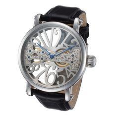 Rougois Skeleton Watch with Bridge Mechanical Movement #skeletonwatch #menswatch