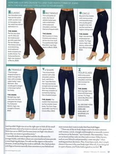 Denim Guide / Tall, Appled Shaped, Petite, Athletic. Tips ...