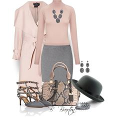 Pink and Gray, created by bbroxton on Polyvore