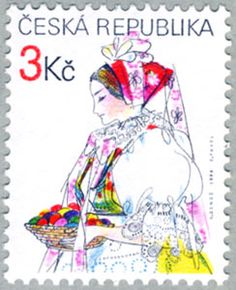 ◇ Czech  1996  what a beautiful stamp.