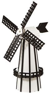 Ornamental Polywood Dutch Windmill With Swivel Top Lawn Decor