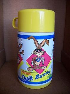 Vintage Nestle Quik Bunny Lunchbox Thermos Made by Aladdin