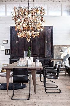 Eclectic chandelier....South Shore Decorating Blog: Change is Good, Right?
