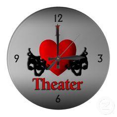 Sold I Heart Theater Wall Clock