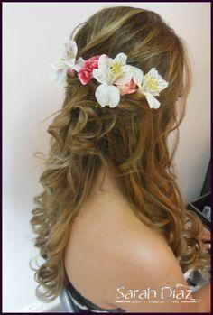 un peinado muy romántico !