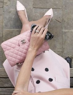 Color-Coordinate Your Blush Pink Coat and Handbag