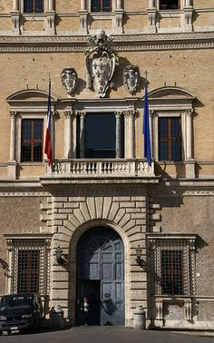 Palazzo Farnese, Rome. The palazzo is owned by Italy, and rented to France for 1 euro per month.