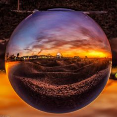 A sunset from Santa Monica Pier as seen through a crystal ball.  Leslie Sigala, Your Take