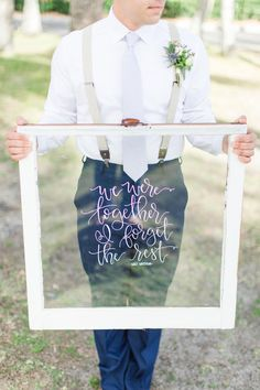 Walt Whitman, famous quotes, window sign, white frame, rustic coastal wedding signage // Crystal Bolin Photography