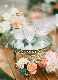 I like the use of the tray and the flowers on the table.