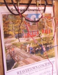 The typical Calander found inside Amish Homes ~ Sarah's Country Kitchen ~