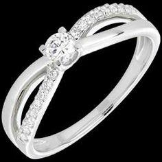 bague solitaire diamant éternité or blanc - diamant 0.14 carats 690 € (-40%)