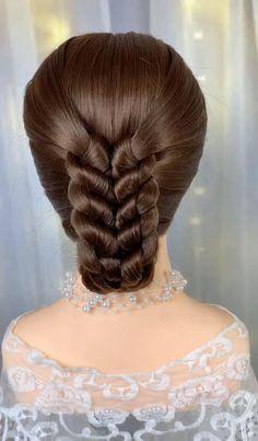 Hairdo For Long Hair, Long Hair Video, Bun Hairstyles For Long Hair, Pretty Hairstyles, Hair Up Styles, Medium Hair Styles, Natural Hair Styles, Frozen Hairstyles, Hair Style Vedio
