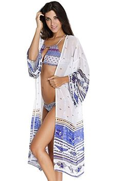 AnnFlat Women's Thunderbird Printed Maxi Kimono Cardigan Cover Up Medium. Annflat own its Trademark. NOTE: Make sure that your order is worth the money that you paid! Annflat's cover-up is made by high qualtiy fabric and being carefully examined before shipping and well packaged in well-designed bag !. Great for wear out women bikini,swimwear,swimsuits,beachwear,bathing suits,bathing costume,swimming costume,swimming suits,maillot,monokini,tankini,mono-kinion on summer beach or pool,also for…