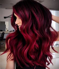 Stunning Pink Hair Color Shades & Highlights for 2019 In the Modern year every young girls and celebrity women want to wear the different shades on hair to enhance the beauty in That's why here. Hair Color Pink, Cool Hair Color, Red Pink Hair, Dyed Hair Pink, Red Color, Vibrant Red Hair, Black Hair, Hair Dye, White Hair
