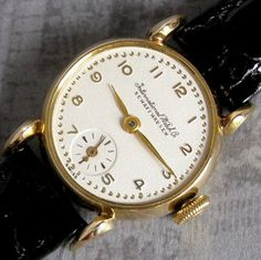Ladies 1940s IWC Schaffhausen 18K Solid Gold Fancy LUG Vintage Swiss Made Watch | eBay