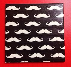 Mustache Coasters, Set of Four, 4.25in X 4.25in on Etsy, $22.00
