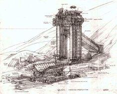 Michael Gibson, John Berkey, Brad Wright, Total Recall, Building Concept, Australian Artists, Retro Art, Sci Fi Fantasy, Art Images