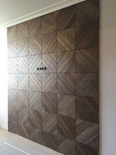 3D Rack wooden panels for apartment #wood #interiordesign #cladding #wallpanels