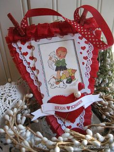 vintage valentine ornament plaque-LITTLE BOY and PUPPIES and kitty handmade chipboard sign plaque ornament decoration