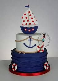 Resultado de imagen para pasteles marineros de bebe
