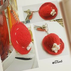 Cute little hat accessory to dress up your key chain, bag etc. 👒🌹