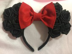 Minnie Mouse Ears by CrazyBeautifulCreati on Etsy
