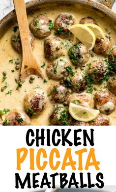 Creamy Lemon Chicken Piccata Meatballs are outrageously good! The sauce is luscious and creamy but not too rich, with the subtle zing of lemon and pops of capers providing a beautiful freshness. Combined with plump juicy chicken meatballs, this gives the classic chicken piccata a serious run for its money!