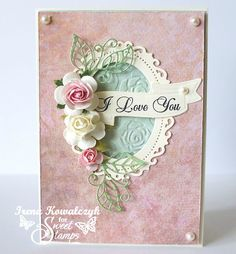 love, life and crafts Rudlis (love the leaves and the embossed paper inside the oval, sweet)