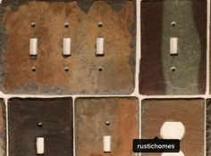 switch plates and outlet covers from century old weathered slate by