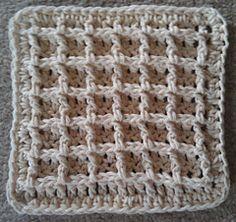 free Ravelry waffle dishcloth pattern