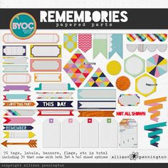 Remombories  Element pack {for Project Life} by Allison Pennington