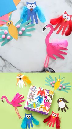 Paper Crafts Origami, Paper Crafts For Kids, Crafts For Kids To Make, Diy Arts And Crafts, Craft Projects For Kids, Craft Activities For Kids, Preschool Crafts, Footprint Crafts, Toddler Crafts