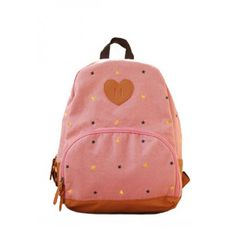 usd42.99/Sweet Cute Star Heart Embroidered  Canvas  Backpack