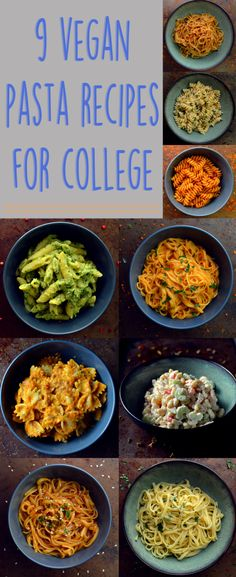 9 vegan pasta dishes - dinner for one - college meals - rich bitch cooking Vegan Foods, Vegan Dishes, Paleo Dinner, Dinner Recipes, Vegetarian Dinner For One, Dinner Ideas, Cheap Vegan Meals, Kids Vegan Meals, Cheap Lazy Vegan