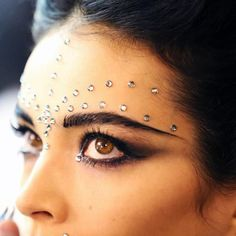 "From Polyvore FB: ""Today in Paris Couture: Beautiful jeweled brows Jean Paul Gaultier just sent out for spring 2013"""