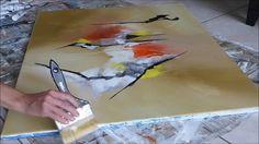 Abstract acrylic painting - Démonstration peinture abstraite par Althea
