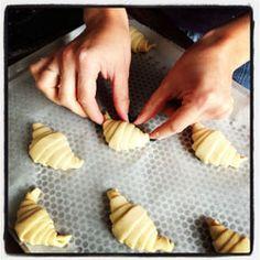 Croissants maison (pâte feuilletée levée)