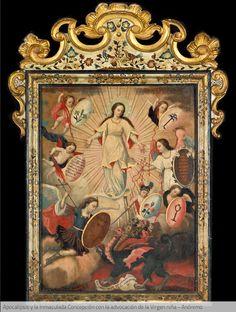 Apocalipsis y la Inmaculada Concepción con la advocación de la Virgen niña. Anónimo