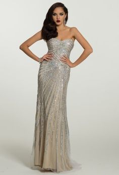 Long Dresses - Strapless Beaded Medallion Dress from Camille La Vie and  Group USA Homecoming Dresses a52abb53e9