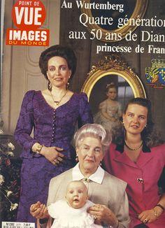 Archives : 4 générations réunies au château d'Altshausen